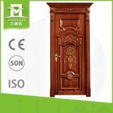 Modèle de fantaisie de porte en bois solide avec le blocage de porte