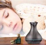 Dunkles hölzernes Korn-super ruhiger Aroma-Diffuser (Zerstäuber) 400ml für Schlafzimmer/Wohnzimmer/Büro/Yoga BADEKURORT