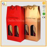 Верхняя продавая изготовленный на заказ коробка красного вина бумаги картона