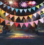 Los últimos indicadores de moda de la cadena del banderín de la alta calidad para la decoración del partido
