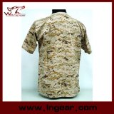Militärisches taktisches Form-Tarnung-Kurzschluss-Hülsen-T-Shirt
