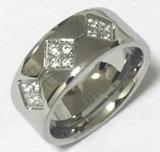 보석 형식 고품질 CZ 스테인리스 반지 (CZR2525)