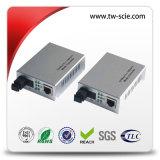 конвертер 1310&1550nm средств волокна размера 10/100m миниый определяет Sc одиночного режима 20km волокна