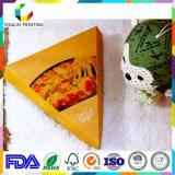 Треугольник Customzied Cardstock принимает отсутствующую коробку пиццы с печатание