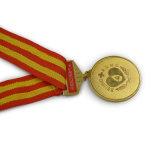 Runde Form Druckguss-Gold überzogenes Erinnerungsmedaillon