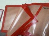 Couvre-tapis enduit de silicone anti-calorique de traitement au four de fibre de verre