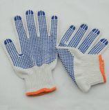 Gants pointillés par coton/gants pointillés par PVC de coton/gants de Polycotton