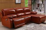 Sofá moderno del masaje del Recliner del cuero de la sala de estar (UL-NS411)