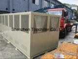 refrigerador de refrigeração ar do parafuso 180kw com o evaporador do escudo e da câmara de ar