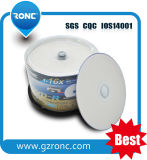 caixa de bolo Printable do Inkjet DVD-R/DVD+R 50PCS de 4.7GB 120min 1-16X