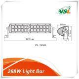 288W二重列のライトバー、96*3W Creee LEDチップ6500k純粋で白いカラー防水IP67は、セリウム、RoHS車のライトバー4X4車、点、洪水/コンボライト承認した