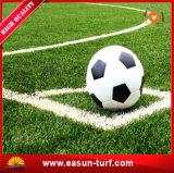Tappeto erboso artificiale di gioco del calcio molto facile dell'installazione