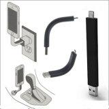 USB iPhone Andriod를 위한 비용을 부과 케이블 단단한 홀더 Micro/V8 Sync 데이타 전송 접합기 연결관 충전기