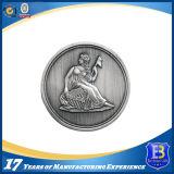 高品質の光沢がある銀製の挑戦昇進の硬貨