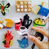 Whosale Food Type Resin Tourist Fridge Magnets pour Décoration d'intérieur