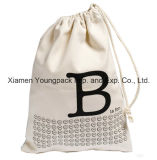 Bolso de totalizador orgánico blanco reutilizable respetuoso del medio ambiente modificado para requisitos particulares manera de las compras del algodón los 38X42cm