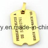 Bijoux d'alerte médicale 316 pendentif en acier inoxydable