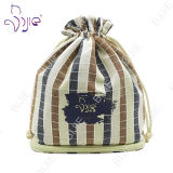 ギフトのパッケージのための高品質の格子縞の綿の装飾的な袋