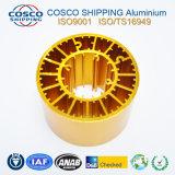 Konkurrierendes Aluminiumkühlkörper-Profil mit der goldenen Anodisierung und der maschinellen Bearbeitung