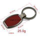 Porte-clés en alliage de zinc de forme ronde de cadeau de promotion de qualité