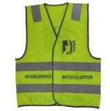 La chaqueta reflexiva de la seguridad del chaleco del camino fluorescente amarillo con CE aprobó (MX-003)