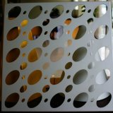 Perforated алюминиевый лист для украшения экрана фасада