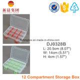 12 Compartimiento de almacenamiento caja de plástico
