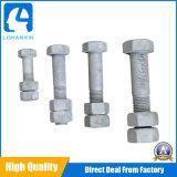 Tornillo Hex pesado galvanizado de la INMERSIÓN caliente ASTM A490 del HDG del acero de carbón DIN931