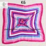 señora impresa pañuelo Square Scarf Factory de la manera del satén de los colores de los 50*50cm
