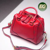 ふさの引き手Emg5006が付いている本革のハンドバッグの上品な女性の戦闘状況表示板のショルダー・バッグ