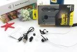 Écouteur sans fil stéréo d'écouteurs d'interpréteur de commandes interactif d'oreille en métal de Stn-861A