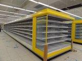 O refrigerador/leiteria do indicador do produto do supermercado bebe o refrigerador da carne