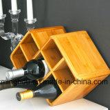 Frascos de bambu da cremalheira 8 do vinho de Widsom para a prateleira Home do armazenamento