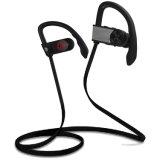 Auriculares sin hilos de los auriculares de Bluetooth para el deporte que se ejecuta con el Mic