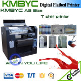 A3 preço Flatbed da impressora da camisa do leito T de Digitas das cores do tamanho 6