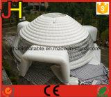 صنع وفقا لطلب الزّبون بيضاء قابل للنفخ قبة هواء خيمة مع نفق
