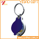 Regalo Keyholder plateado latón antiguo de encargo de Yibao de, Keychain, Keyring, regalo de la promoción (YB-KH-422)