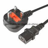Cuerda BRITÁNICA electrónica de la corriente ALTERNA del cable del Pin C5 de la computadora portátil 3 de la inserción de Ved