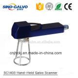 scanner tenuto in mano portatile di Galvo 20W Sc1403 per la macchina della marcatura del laser del metallo