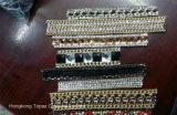 Punktrückseitige Rhinestone-Ineinander greifen-Blatt-Wärmeübertragungrhinestone-Halskette (TM-Halskette)