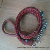 Real Cowskin Knitting String Dog Lead pour grand chien