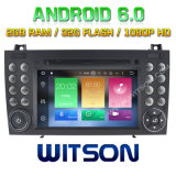 Witson Octa-Core (Eight Core) Android 6.0 DVD de voiture pour Benz Slk200 / Slk280 2g ROM 1080P Touch Screen 32 Go ROM