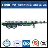 Cimc 3つの車軸40FT半50トンの容器の平面のトレーラー