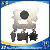 Покрынный серебром значок Pin изготовленный на заказ мягкой шины металла эмали форменный