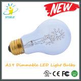 A19/A60 bulbo estrellado decorativo de los nuevos bulbos del copo de nieve LED