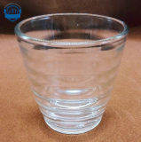 Glace en verre de vin rouge de barre de cuvette de whiskey de cuvette de cuvette à extrémité élevé transparente sans plomb de diamant