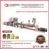 Qualität ABS-PC Zwilling-Schrauben-Plastikplatten-Extruder-Maschinerie
