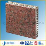 Panneaux en pierre normaux de nid d'abeilles de couleur de granit riche de la Chine pour l'étage