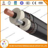 cable de cobre aprobado de Urd del conductor 1/0AWG de la UL 15kv