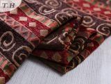 El paño rojo festivo del sofá del telar jacquar del Chenille produjo por la fábrica de China